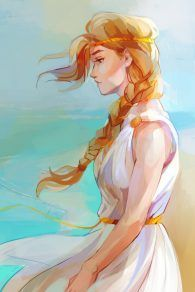 "Viria's ""fanart"" is now the official Percy Jackson art!!! Look at this beautiful drawing of Calypso!"