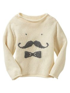 Gap | Intarsia mustache sweater
