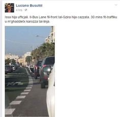 Labour MP Luciano Busuttil brands Gzira bus lane as stupid after spending 30 minutes in traffic - The Malta Independent