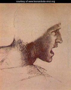 Head of a Warrior - Leonardo Da Vinci - www.leonardoda-vinci.org