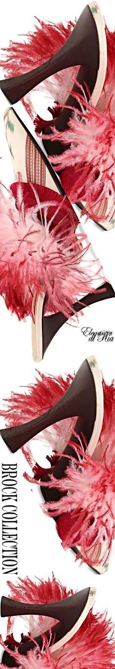 #brockcollection #queenann #heel #feather #slippers Brock collection #eleganzadiria Eleganza di Ria