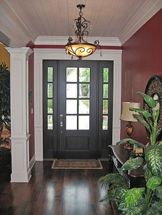 Love the color! #entryway #foyer homechanneltv.com