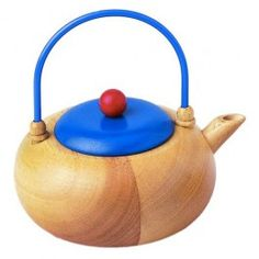 It's tea time!  Wooden Toy Tea Pot for fun tea parties. From Bella Luna Toys.