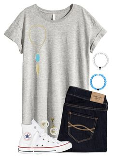 """Untitled #257"" by hgw8503 ❤ liked on Polyvore featuring H&M, Abercrombie & Fitch, Kendra Scott, Converse, women's clothing, women, female, woman, misses and juniors"