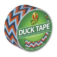 blue-chevron-printed-duck-tape