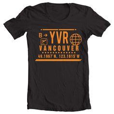 YVR - VANCOUVER CLEAR PORT T-SHIRT - BLACK