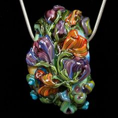 Glass Lampwork Bead Flowers - Lusciously Autumn by Patsy Evins Studio