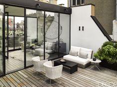 Rooftop Patio, glass sunroom
