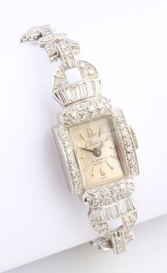 Choisi Platinum and Diamond Watch : Lot 1283