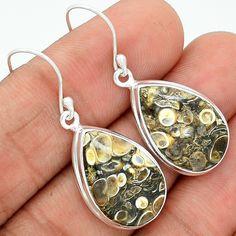 Turtella Jasper 925 Sterling Silver Earrings Jewelry TTJE70 - JJDesignerJewelry