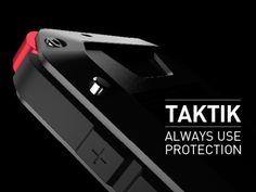 TAKTIK: Premium Protection System for the iPhone by Scott Wilson + MINIMAL, via Kickstarter.