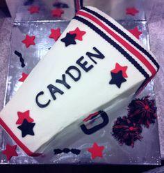 Cheerleading megaphone cake!