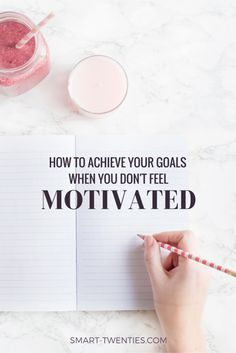 I share how you can achieve your goals without feeling motivated or inspired, and why you can't rely on motivation if you're serious about your goals