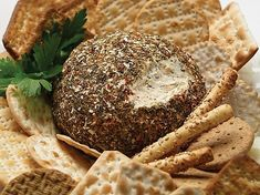 Garlic Pesto Cheeseball Dip Mix, Shop Homemade Gourmet for a tasty easy cheese ball recipe Best Potato Recipes, Pesto Dip, Cheese Ball Recipes, Easy Cheese, Tasty, Yummy Food, Recipe Mix, Specialty Foods, Gourmet Recipes