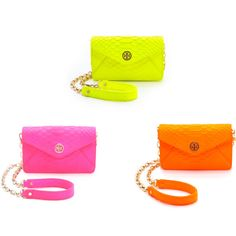 Neon Purses from Tory Burch...would be so fun for the beach