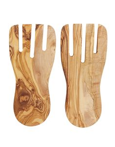 """- Description - Artisan - Hang Tag Toss your salads in style with these short salad hands carved from wild olive wood. * Approximately 7"""" long * Wild olive wood is food safe * As with all handmade ite"""