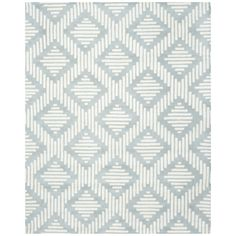 Safavieh Handmade Moroccan Chatham Rectangular Gray/ Ivory Wool Rug (8' x 10')   Overstock™ Shopping - Great Deals on Safavieh 7x9 - 10x14 R...