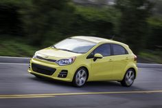 The third-generation Kia Rio subcompact (known as the Pride in Korea and in China) is a global vehicle sold in three body styles: three-door hatchback, f. Kia Motors, Kia Rio Sedan, Kia Parts, Hatchback Cars, Upcoming Cars, Car Posters, Poster Poster, Cute Cars, Cheap Cars