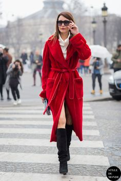 robe dress with knee high boots