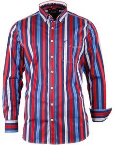#Herrenhemd im edlen Streifendesign aus der #Yachting Kollektion von  CLAUDIO CAMPIONE.