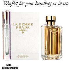 Prada La Femme Eau De Parfum 6ml or 12ml atomizer travel spray (12ml) Prada La Femme Eau De Parfum 12ml prefilled atomizer. Please note that you are buying perfume spray atomizer which is prefilled with genuine Prada La Femme Eau De Parfum (Barcode EAN = 5052931397303) http://www.comparestoreprices.co.uk/december-2016-5/prada-la-femme-eau-de-parfum-6ml-or-12ml-atomizer-travel-spray-12ml-.asp
