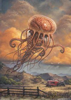 Monster Concept Art, Fantasy Monster, Monster Art, Dark Fantasy Art, Fantasy Artwork, Arte Horror, Horror Art, Art Sinistre, Art Science Fiction