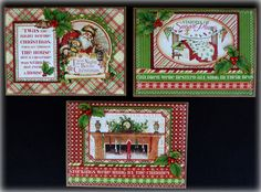 Graphic 45 Twas the Night Before Christmas Handmade Greeting Cards