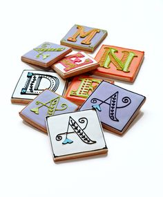 Monogram Cookies by Baked Ideas