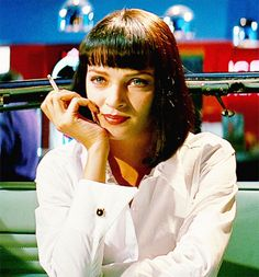 """Fun Things You Didn't Know About Kara Morrison #6: My current hairstyle was inspired by the """"Mia Wallace"""" character in Pulp Fiction."""