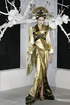 Modern Geisha inspired fashion by Christian Dior.