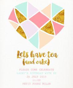 Can Design, Stationery Design, Cherry, Invitations, Birthday, Birthdays, Stationary Design, Prunus, Save The Date Invitations