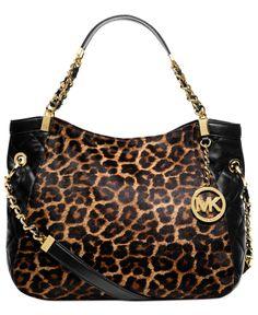 MICHAEL Michael Kors Handbag, Susannah Medium Haircalf Shoulder Tote - Shop All Michael Kors Handbags & Accessories - Handbags & Accessories - Macy's