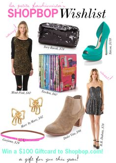 We're celebrating the release of La Petite Fashionista Mag with a hundred dollar gift card to Shopbop.com!
