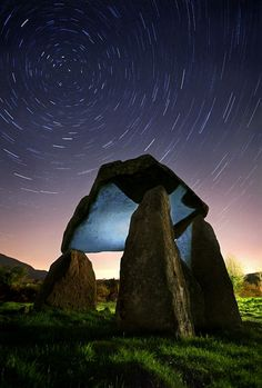 Passage of Time  © Gary McParland  I did 12 x 5 min exposures and only 7 were ok as the lens fogged over and i didn't realize till i was finished. I blended them using a stacking action in PS and merged the finished file with a separate exposure where i had done some light painting on the dolmen using my torch.