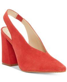 c74dde257be Vince Camuto Tashinta Slingback Pumps - Red 7.5M Shoes Heels Pumps