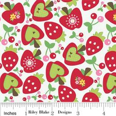 Doohikey Designs - Hoos In The Forest - Fruit in White