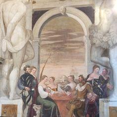 Villa Caldogno (Vicenza) Particolare dell'affresco, nel Salone Centrale. Buon Sabato .