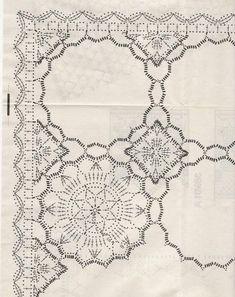 Crocheted motif no. Crochet Mat, Crochet Dollies, Crochet Afgans, Manta Crochet, Easter Crochet, Thread Crochet, Crochet Flowers, Crochet Bedspread Pattern, Crochet Motif Patterns