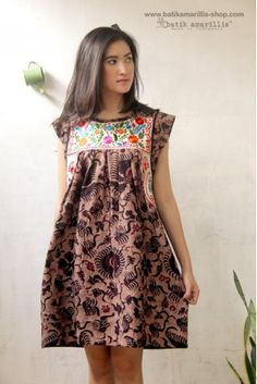 batik amarillis's frida tunic/mini dress - batik