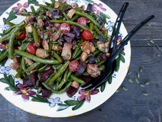 Chicken, Green Bean and Beetroot Salad, with a Ginger Balsamic Dressing