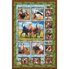 Wilmington Prints Wild at Heart Horse Quilt Pattern 39x60