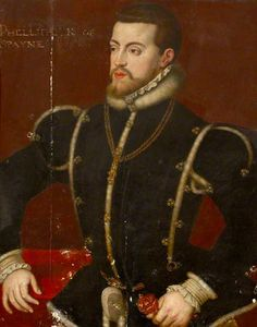 Philip II (1527–1598), King of Spain by Titian(after)      Date painted: 17th C     Oil on panel, 81.5 x 60 cm     Collection: National Trust