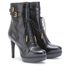 Burberry London - DALESIDE BROGUED LEATHER PLATFORM ANKLE BOOTS - mytheresa.com GmbH