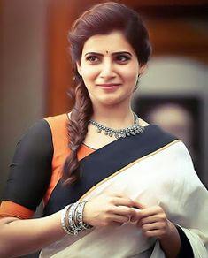 Samantha Ruth Prabhu look so stunning in the saree South Actress, South Indian Actress, Beautiful Indian Actress, Beautiful Actresses, Beautiful Saree, Beautiful Bollywood Actress, Samantha In Saree, Samantha Ruth, Actor