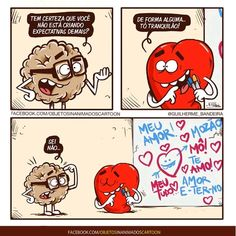 Secret Love, Heart And Mind, Funny Cartoons, Flirting, Haha, Have Fun, Thoughts, Humor, Feelings