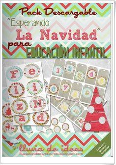 """El pack descargable """"Esperando la Navidad para Educación Infantil"""", de Maite Gan, en lluviadeideasyrecursos.blogspot.com, es un magnífico conjunto de rótulos de números y letras e imágenes para el trabajo en clase en relación con la Navidad."""