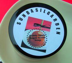 Caramel Candy Apple Sugar Scrub, Large 10 oz Jar