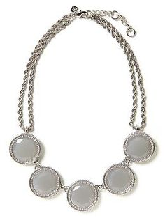 Gumdrop Necklace | Banana Republic - recently purchased.