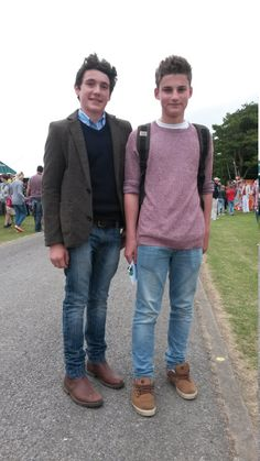 Tom and George go the King Edward VI School in Louth. It's great to see tweed jackets been worn by the younger generations - and with such style! Tweed Jackets, Barbour, Well Dressed, Dapper, Menswear, King, Blazer, Lady, School