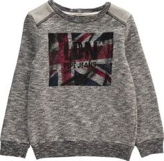 Pepe Jeans Sweet Sweatshirt Heather grey `4 years Fabrics : Mottled Cotton Jersey Details : Union Jack Print, Round Neck, Long sleeves, Shoulder Pads, Elbow patches, Two materials Composition : 100% Cotton http://www.comparestoreprices.co.uk/january-2017-7/pepe-jeans-sweet-sweatshirt-heather-grey-4-years.asp